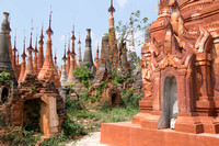 Pagodas at Indein near Inle Lake